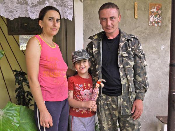 Király István és családja.