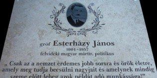 Prága- Sürgetik gróf Esterházy János rehabilitációját