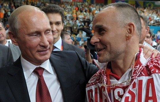 Az orosz elnök és Ezio Gamba.