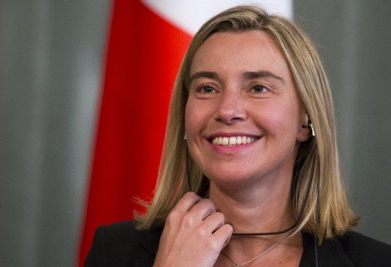 Federica Mogherini olasz külügyminiszter.