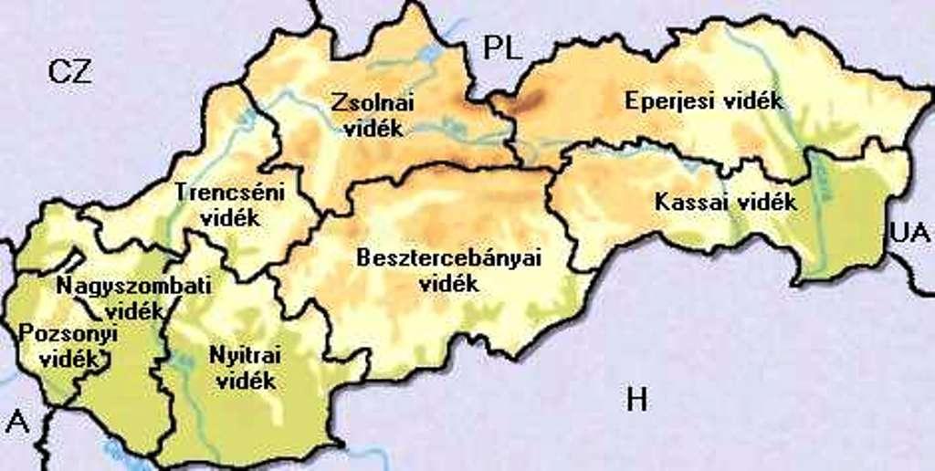 felvidék térkép Felvidék – Tömbmagyarsági területen szüntetne meg körzeti hivatalt  felvidék térkép