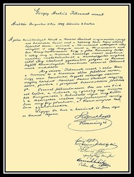 Kossuth Lajos lemondólevele a kormányzóságról Görgey Artúrnak