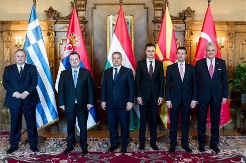 Orbán Viktor fogadta az ötoldalú miniszteri találkozó résztvevőit