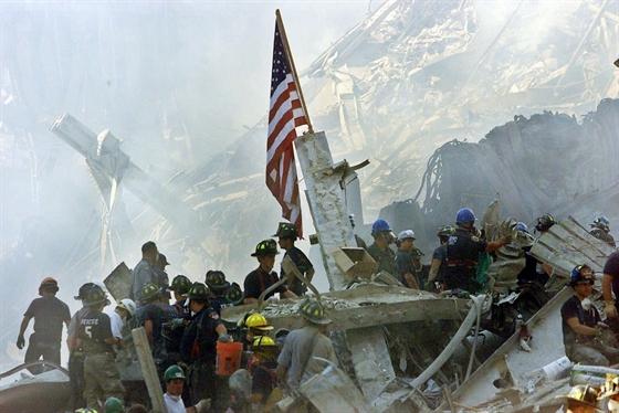 A Pentagon a becsapódás után.